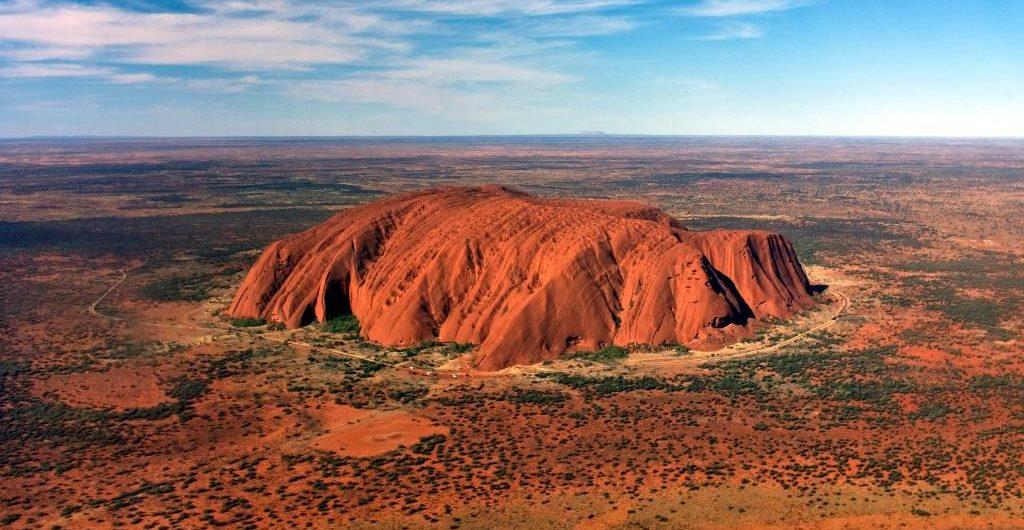 Uluru, Ayers Rock, helicopter over Uluru