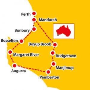 margaret river, bridgetown, boyup brook, margaret river tours, seniors tours ex perth, seniors tours western australia
